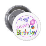 Sweet 16 buttons