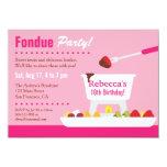 "Sweet 16 Chocolate Fondue Birthday Party 4.5"" X 6.25"" Invitation Card"