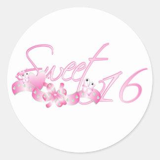 Sweet 16 classic round sticker