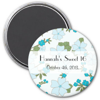 Sweet 16 - Flowers, Leaves, Blossoms - Blue Magnet