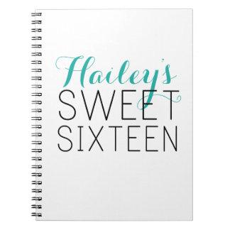 Sweet 16 Guest Book Spiral Notebook