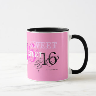 Sweet 16 Happy Birthday for Teen - Pink Mug