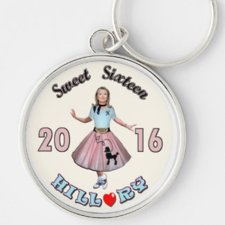 Sweet '16 Hillary for President Keychain