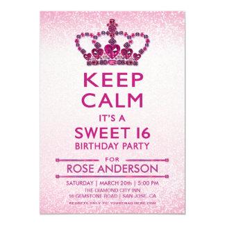 Sweet 16 Invitations   Gems, Jewels, Diamonds