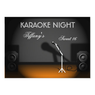Sweet 16 karaoke night party Invitation
