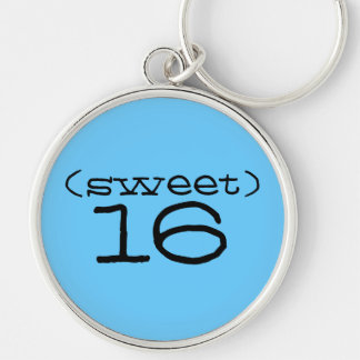 Sweet 16 Keychain in Turquoise and Black