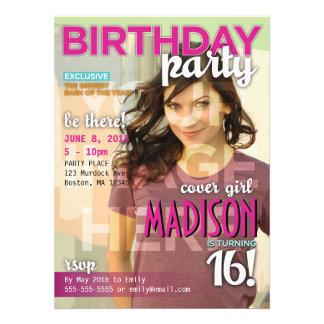 Sweet 16 Magazine Cover Birthday Invitation
