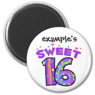 Sweet 16  magnet - create your own
