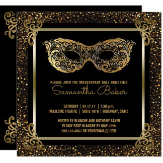Sweet 16 Masquerade Party | Sweet Sixteen Gold Card