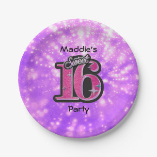Sweet 16 Paper Plates