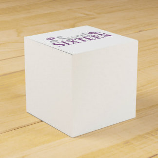 Sweet 16 Party Party Favor Boxes