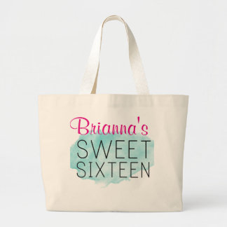 Sweet 16 Personalized Bag w/ Blue Watercolor