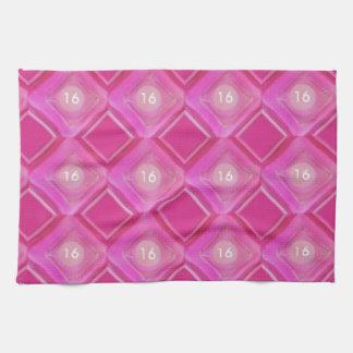 Sweet 16, Pink Diamonds Number Hand Towel