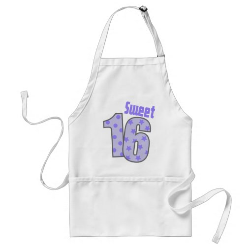 Sweet 16 (Purple Dots And Stars) Aprons