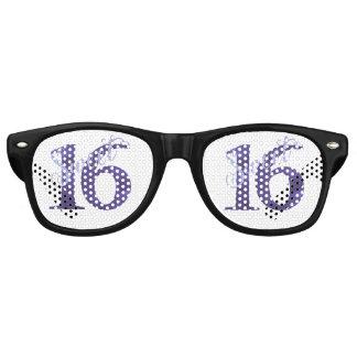 Sweet 16 Purple | Watercolor Violet Birthday Party Retro Sunglasses