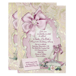 Sweet 16 Quinceanera Party Invitations