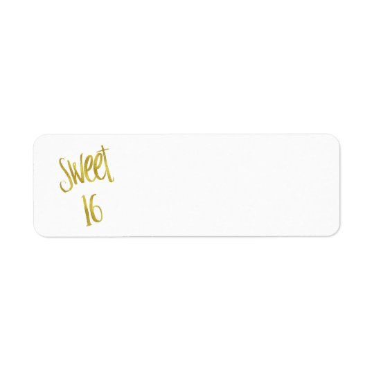 Sweet 16 Quote Faux Gold Glitter Background