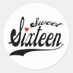 Sweet 16 round stickers