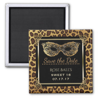 Sweet 16 Save the Date 16th Birthday Ball Leopard Magnet