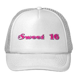 Sweet 16 Shiny Pink Typography Trucker Hat