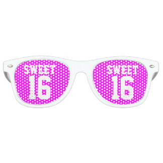 SWEET 16 SIXTEEN neon pink Birthday party shades