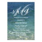 Sweet 16 Summer Beach Modern Confetti Dots Card
