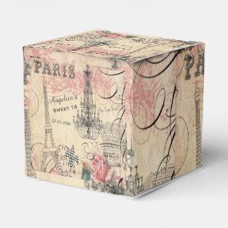 Sweet 16 Thank You Eiffel Tower & Chandelier Wedding Favor Box