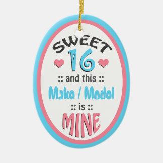 Sweet 16 - This Vehicle is Mine - Ceramic Ornament