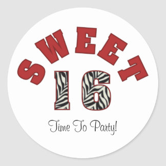 Sweet 16, Time To Party! Stickers