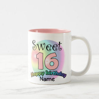 Sweet 16 (with nasty) Two-Tone coffee mug