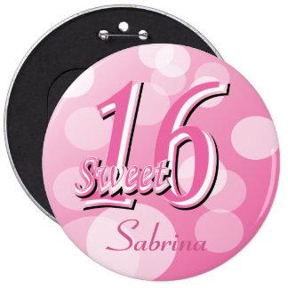 Sweet 16 Word Art | 16th Birthday 6 Inch Round Button