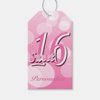 Sweet 16 Word Art | 16th Birthday Pack Of Gift Tags