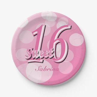 Sweet 16 Word Art | 16th Birthday Paper Plate