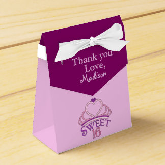 Sweet 16th Birthday Party Thank You Custom Favor Box