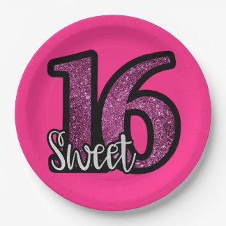 Sweet 16th Birthday Plates