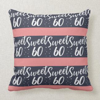sweet 60 throw pillow
