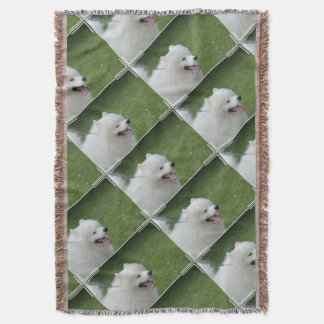 Sweet American Eskimo Dog Throw Blanket