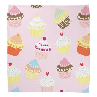 Sweet and Colorful Cupcake Pattern Bandana