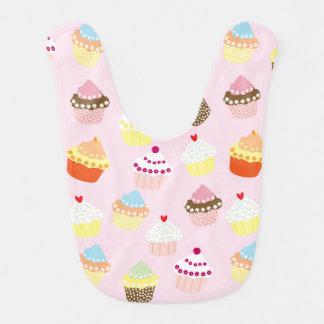 Sweet and Colorful Cupcake Pattern Bib