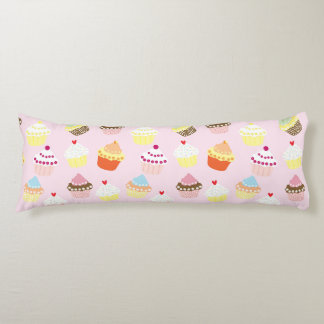 Sweet and Colorful Cupcake Pattern Body Pillow