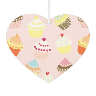 Sweet and Colorful Cupcake Pattern Car Air Freshener