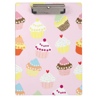 Sweet and Colorful Cupcake Pattern Clipboard