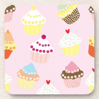 Sweet and Colorful Cupcake Pattern Coaster