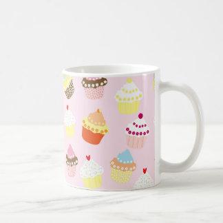 Sweet and Colorful Cupcake Pattern Coffee Mug