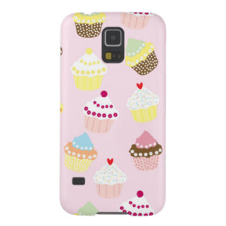 Sweet and Colorful Cupcake Pattern Galaxy S5 Cover
