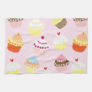 Sweet and Colorful Cupcake Pattern Kitchen Towel