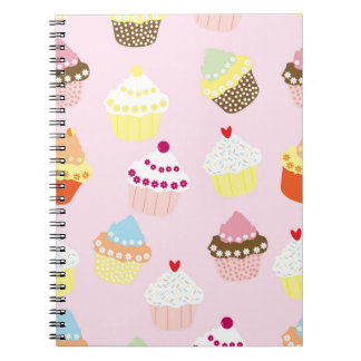 Sweet and Colorful Cupcake Pattern Notebooks