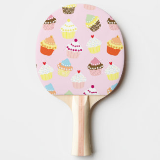 Sweet and Colorful Cupcake Pattern Ping Pong Paddle