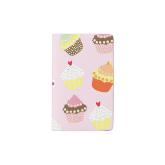 Sweet and Colorful Cupcake Pattern Pocket Moleskine Notebook