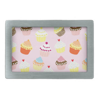 Sweet and Colorful Cupcake Pattern Rectangular Belt Buckles